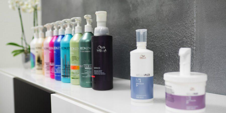 In meinem Haar-Atelier verwende ich hochwertige Produkte von Redken und Wella